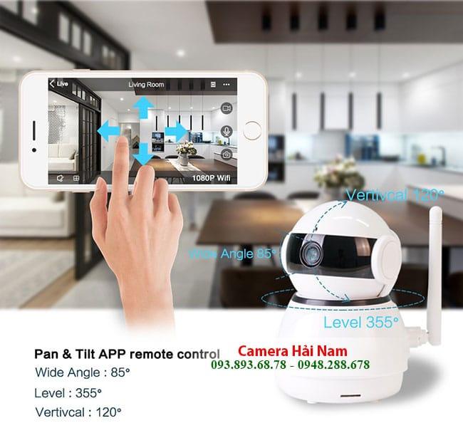 Camera ip wifi 360 xoay đa chiều linh hoạt