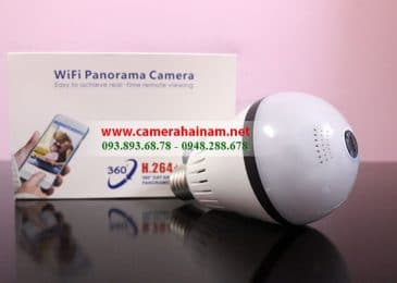 Camera ngụy trang bóng đèn wifi quan sát từ xa cho gia đình