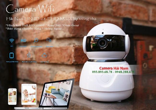 Camera Wifi không dây Hải Nam siêu nét 1080P Full HD dành cho gia đìnhCamera Wifi không dây Hải Nam siêu nét 1080P Full HD dành cho gia đình