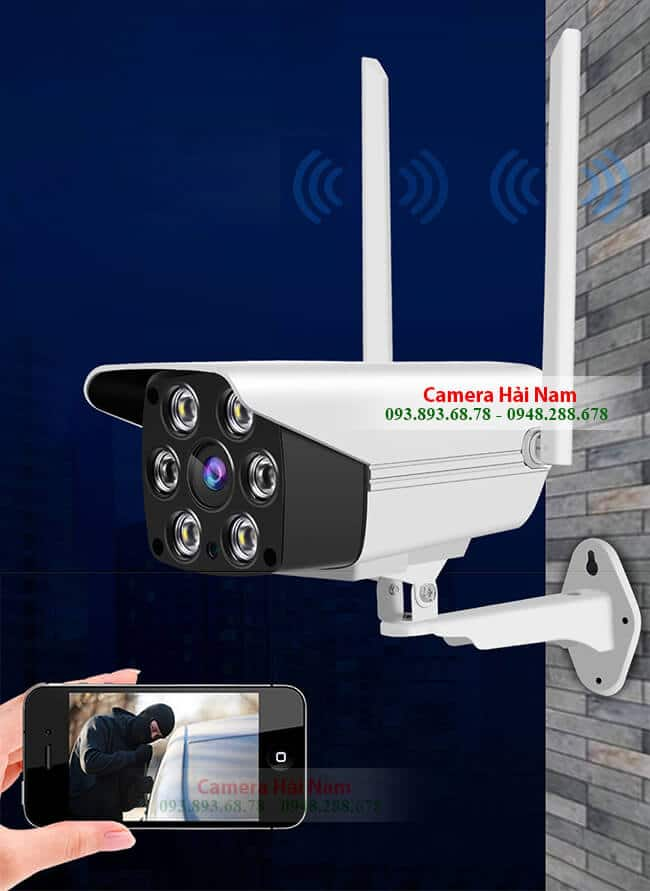 camera ip wifi ngoai troi sac net 2mp full hd 1080p 8