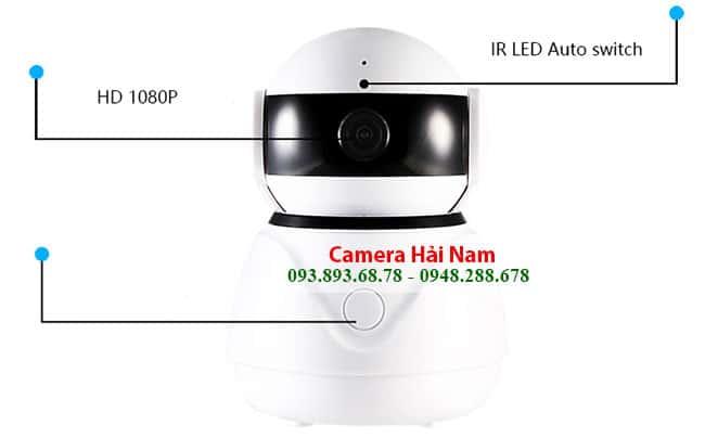 Camera Wifi không dây Hải Nam siêu nét 1080P Full HD dành cho gia đình