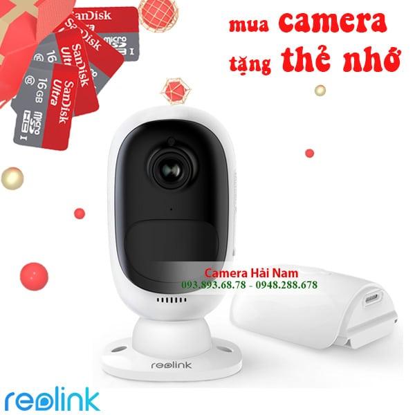 Camera IP Ngoài trời Dùng PIN Reolink Argus 2