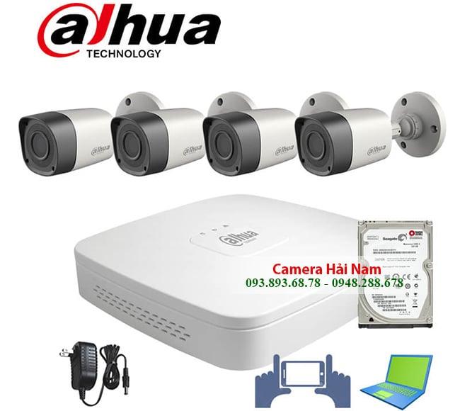 Bộ 4 mắt camera Dahua 2.0MP Full HD 1080P