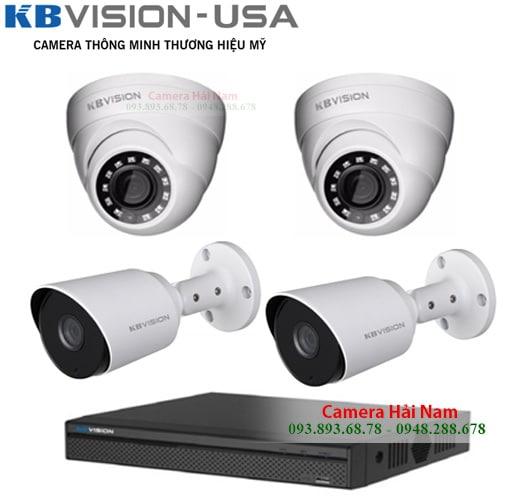trọn bộ 4 mắt camera kbvision 2.0mp full hd 1080p