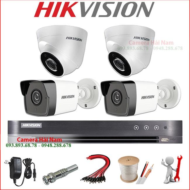 Bộ 4 mắt camera Hikvision 5M Super HD 2K
