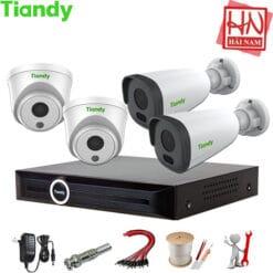 Camera Tiandy – Lắp đặt Trọn bộ 04 Camera IP Tiandy DOME, Đầu ghi PoE chuẩn nén H.265 Chính hãng, Giá rẻ