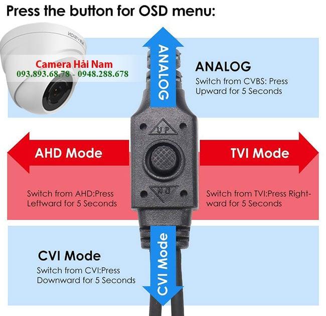 Camera KBVision KX-1302C 1.3MP HD 960P Dome hồng ngoại 20m