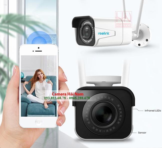 Camera wifi ngoài trời Reolink RLC 511W 5.0MP, 2K (2560*1920)p, siêu sắc nét, IR 30m, IP66, Zoom quang 4x, Starlight