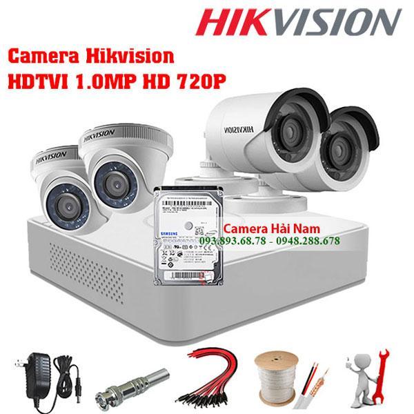 Đầu ghi hình camera DS-7104HQHI-K1 Hikvision 2MP Full HD Turbo HD 4.0, chuẩn H.265+
