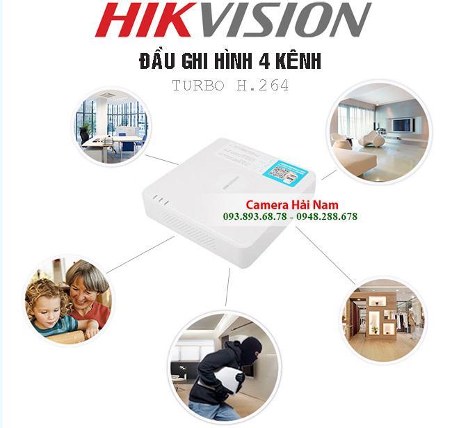 Đầu ghi hình Hikvision DS-7104HGHI-F1 Turbo HD 3.0 chuẩn H.264