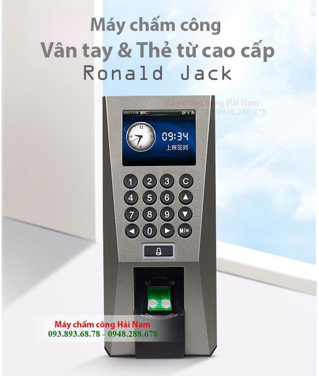 Máy chấm công kiểm soát cửa Ronald Jack F18 lưu 3000 dấu vân tay GIÁ RẺ