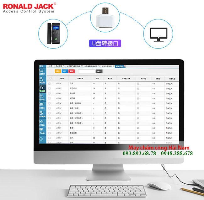 Máy chấm công thẻ từ Ronald Jack RJ3000L dùng PIN 2A siêu tiện lợi GIÁ RẺ