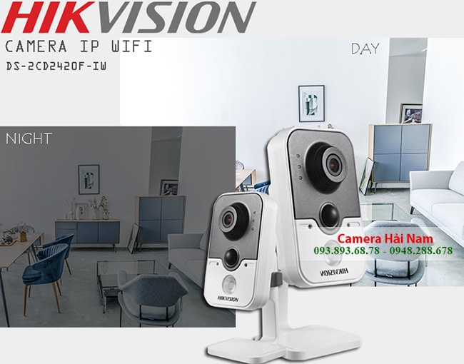 Camera Hikvision DS-2CD2420F-IW IP Cube Wifi 2.0M Full HD 1080P