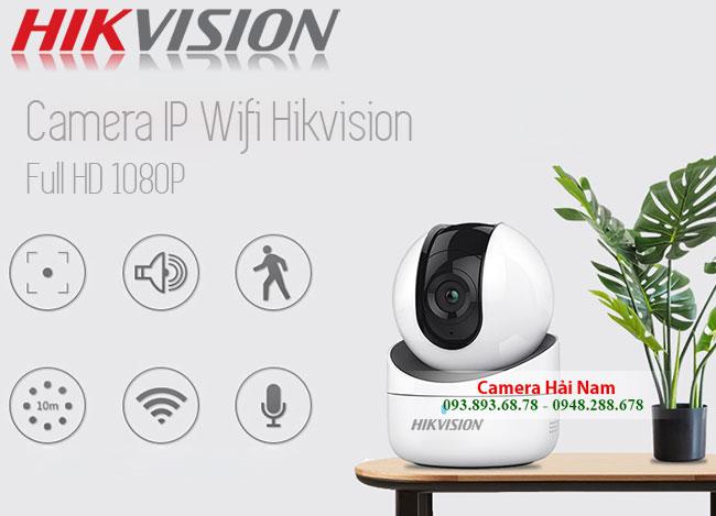 Camera wifi Hikvision 2MP Full HD 1080P, Xoay 360°, Báo trộm thông minh Chính hãng, Giá rẻ