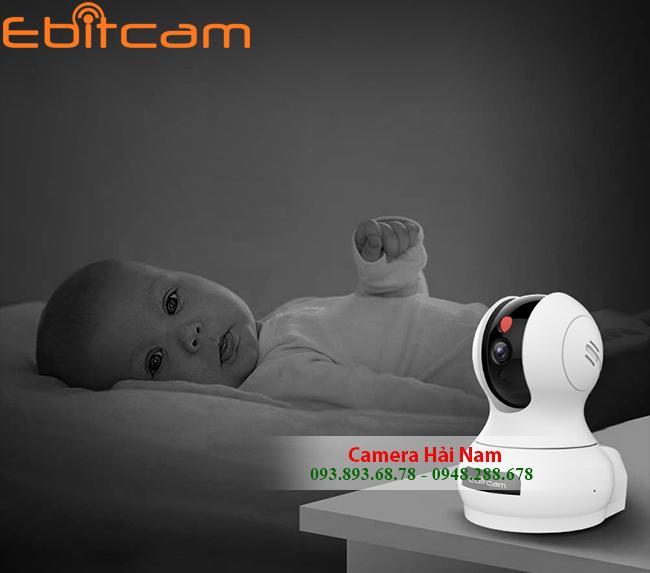 Camera IP Wifi Ebitcam 2MP Full HD Sắc nét, Quay quét thông minh CHÍNH HÃNG - GIÁ CỰC RẺ
