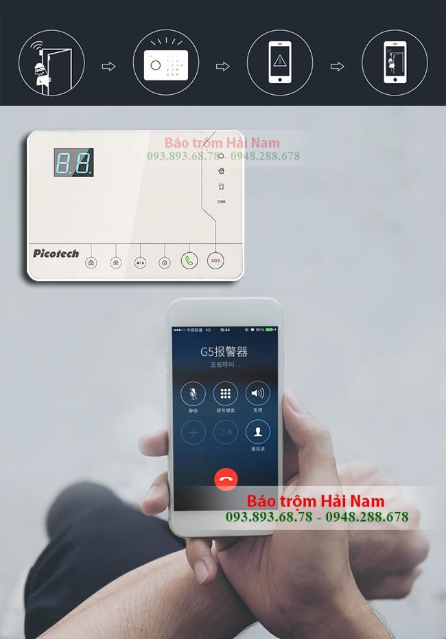Thiết bị chống trộm dùng SIM Picotech PCA-8000GSM Chính hãng, Tiện ích, Giá rẻ