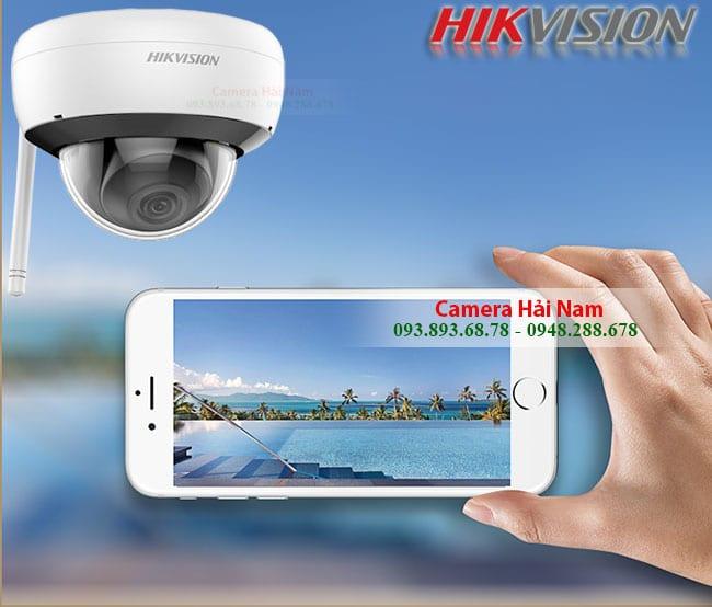 Camera Hikvision IP không dây DS-2CD2121G1-IDW1 2MP Full HD hồng ngoại 30m, IP66