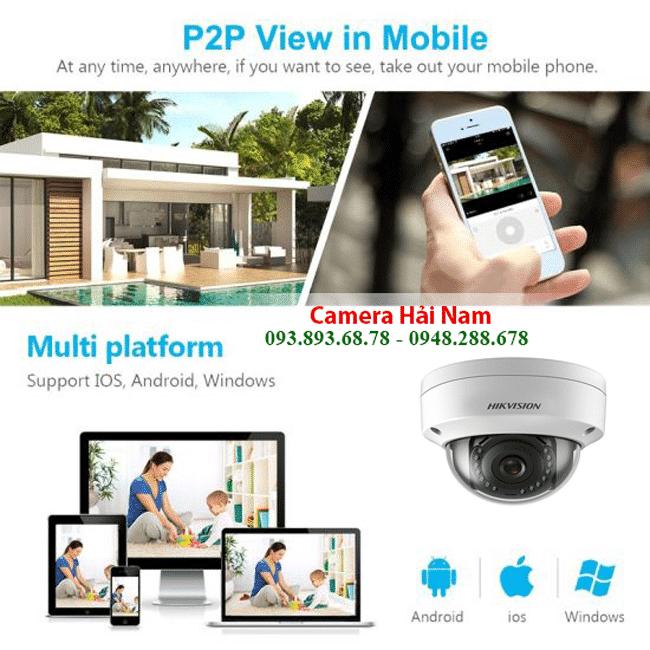 Camera IP Dome Hikvision DS-2CD1121-I 2.8mm 2MP hồng ngoại 30m, IP67