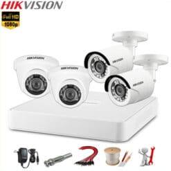 Lắp đặt trọn bộ camera Hikvision 4 mắt 2MP Full HD 1080P HDTVI Chính hãng, Giá rẻ nhất [GIẢM 39%]