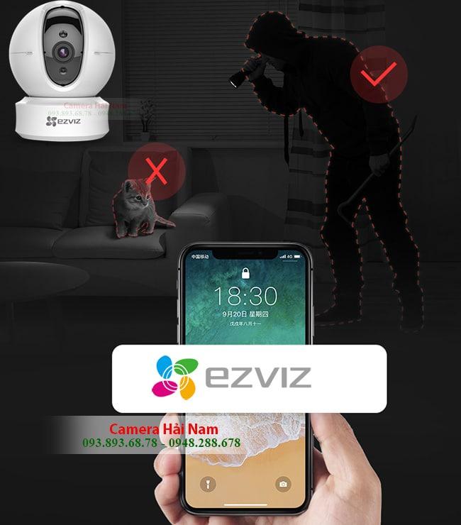 Camera Wifi EZviz C6CN HD 720P - Xoay 360, hồng ngoại 10m, đàm thoại 2 chiều