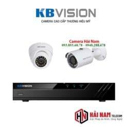Trọn bộ 2 camera KBvision 5MP Chính hãng, IP67, ghi hình xa 30m, vỏ kim loại