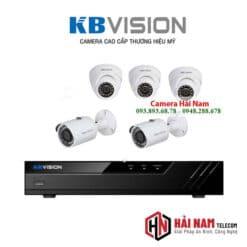 Trọn bộ 5 camera KBvision 5MP Chính hãng