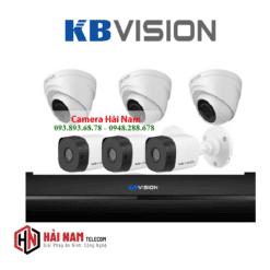 Trọn bộ 6 Camera KBVision 2MP chính hãng, IP67, hồng ngoại 20m,..