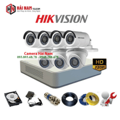 trọn bộ 7 camera Hikvision 1.0MP