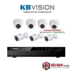Trọn bộ 7 camera KBvision 5MP Chính hãng
