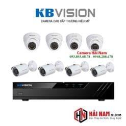 Trọn bộ 8 camera KBvision 5MP SUPER HD 2K, IP67, IR 30m