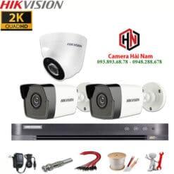 Trọn bộ 3 camera Hikvision 5Mp