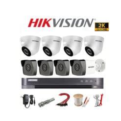 Trọn bộ 8 camera Hikvision 5MP Siêu Nét, Chính Hãng
