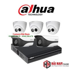 Trọn bộ 5 camera IP Dahua 2MP