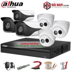 Trọn bộ 6 camera IP Dahua 2MP
