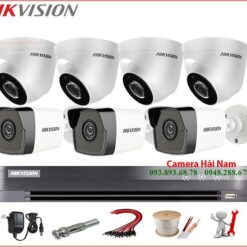 Trọn bộ 7 Camera Hikvision 5MP