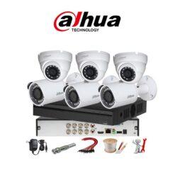 trọn bộ 6 camera Dahua 5MP