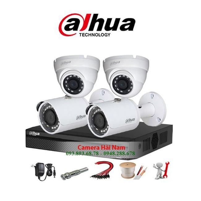 Trọn bộ 4 Camera Dahua 5MP